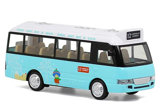 1:40 Scale Kids Blue Diecast City Bus Toy