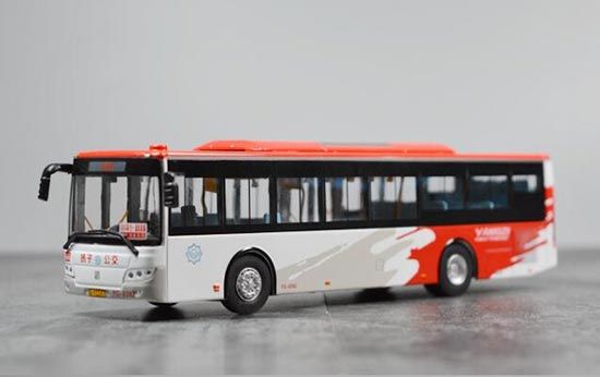 1:64 Scale Red-White NO.666 Diecast Sunwin City Bus Model