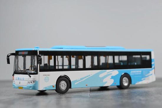 Blue-White 1:64 Scale NO.D1 Diecast Sunwin City Bus Model