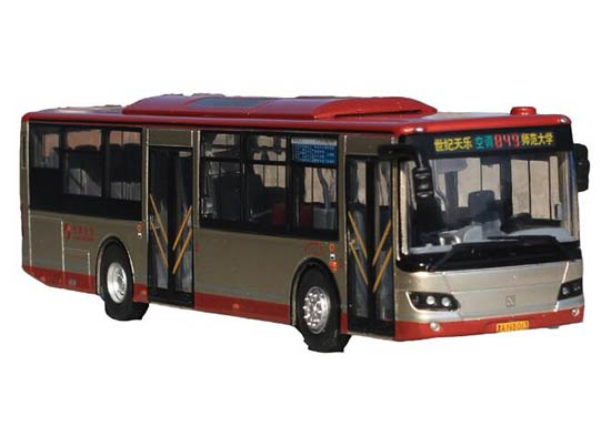 1:64 Scale Red-Golden NO.849 Diecast Sunwin City Bus Model