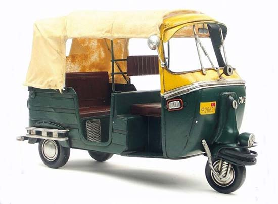 Green Vintage Large Scale Tinplate Vespa Tricycle Model