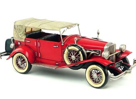 1:14 Scale Red Retro Tinplate 1933 Duesenberg Model J Car