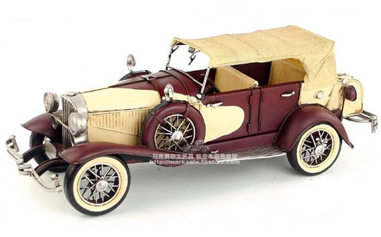 Wine Red 1:14 Scale Retro Tinplate 1934 Duesenberg Model J Car