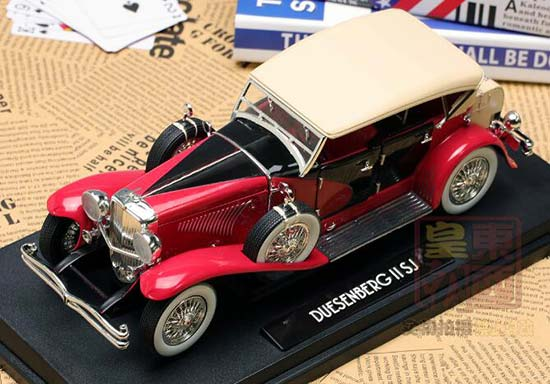 1:18 Scale Green/Light Red Diecast Duesenberg SJ Model