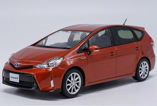 Seven Colors 1:30 Scale Diecast Toyota Prius X Model