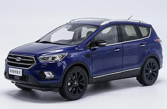 Blue 1:18 Scale Diecast Ford New Kuga 2017 Model