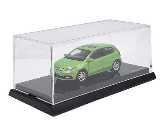 Green 1:64 Scale Diecast VW New Polo Model