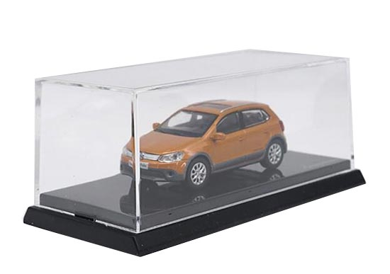 Orange 1:64 Scale Diecast VW Cross Polo Model