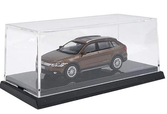 Brown 1:64 Scale Diecast VW Cross Lavida Model