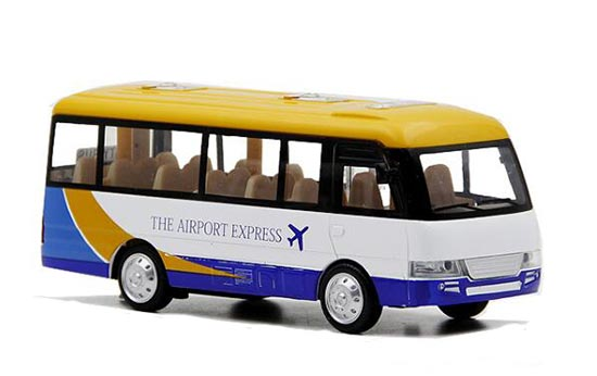 Kids Airport Express White Diecast Coach Bus Toy