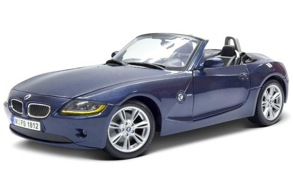 Gray Blue 1 18 Scale Maisto Diecast Bmw Z4 Model