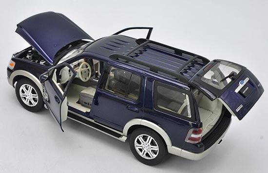BLUE 4.75 Inch Ford Explorer Scale Diecast Metal Car Model by Welly