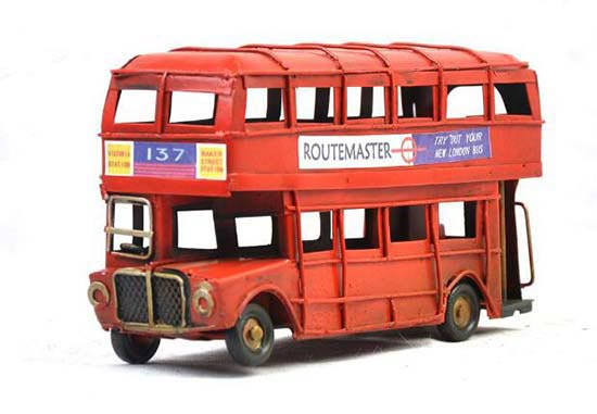 Small Scale Red 1905 Year Double Decker London Bus Model