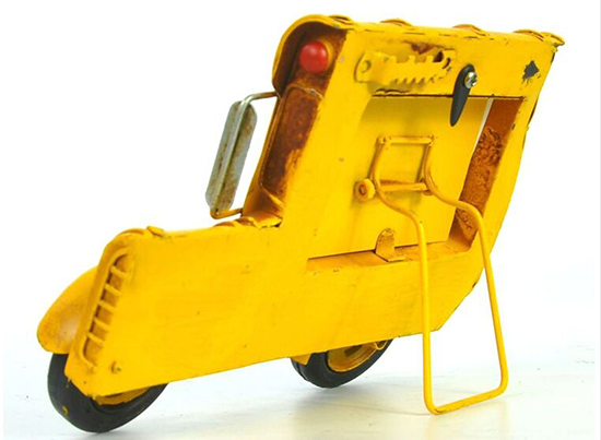 Large Scale Yellow Tinplate School Bus Shape Photo Frame