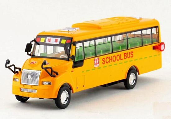 1:50 Scale Pull-back function Kid Big Nose Yellow School Bus Toy