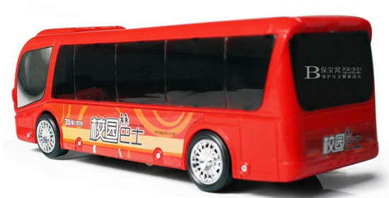 Kids White / Red Electric School Bus Toy