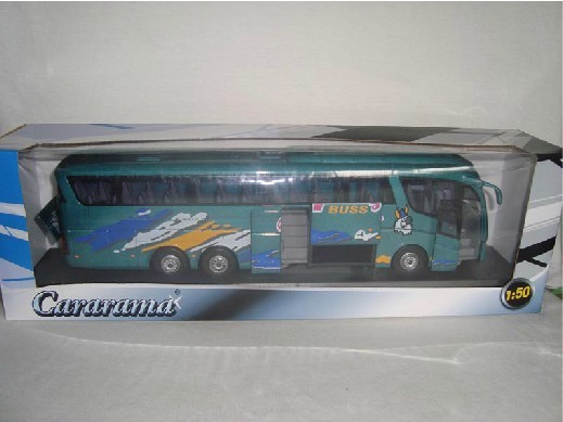 1:50 Green / Silver Cararama Scania Irizar pb Tour Bus Model