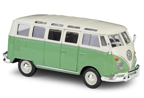 1:25 Scale Red / Blue Maisto Volkswagen Van Samba Bus Model
