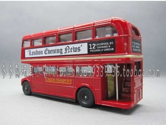 Kids Red Diecast London Double-Decker Bus Toy