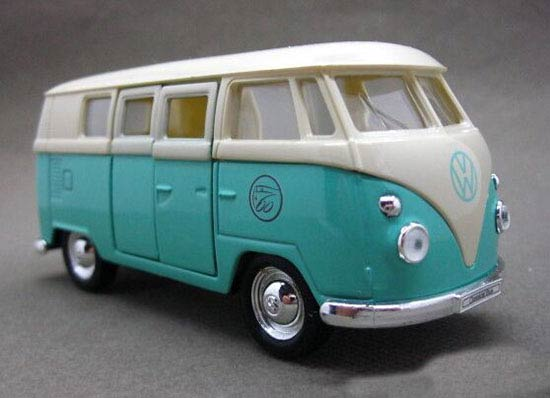 1:36 Black-Red / White-Green / Brown Kids 1962 Classical VW Bus