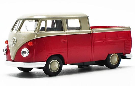 1:36 Scale White-red Kids VW Pickup Truck T1 Bus Toy