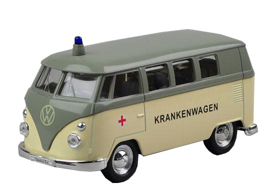 1:36 Scale Kids Welly 1962 VW Ambulance Bus Toy