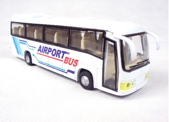 White Kids Airport Theme Tour Bus Toy