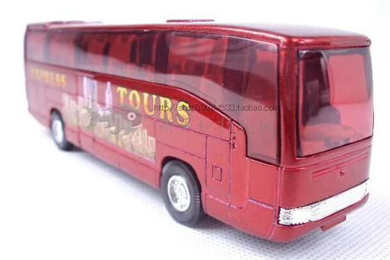 Kids Red Pull-back Function Express Tour Bus Toy