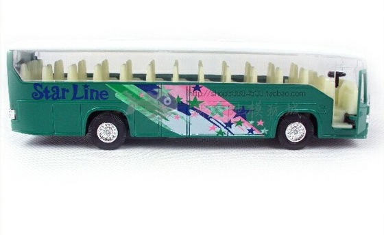 Pull-back Function Blue Kids Airport Shuttle Tour Bus Toy