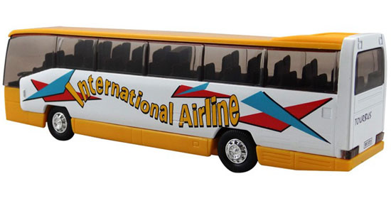 Kids Blue / Yellow / Red International Airline Tour Bus Toy