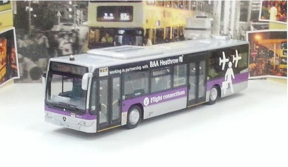 1:76 Scale Purple CITRAO NCP Airport Bus Model