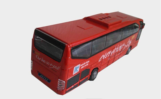 Large Scale Kids Red Five Opening Doors Tour Bus Toy