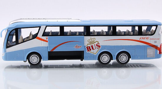 Large Scale Kids Green / Blue Pull-back Function Tour Bus Toy
