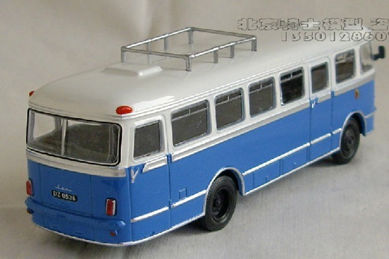 1:43 Scale White-blue 1972 SAN H-100A Bus Model
