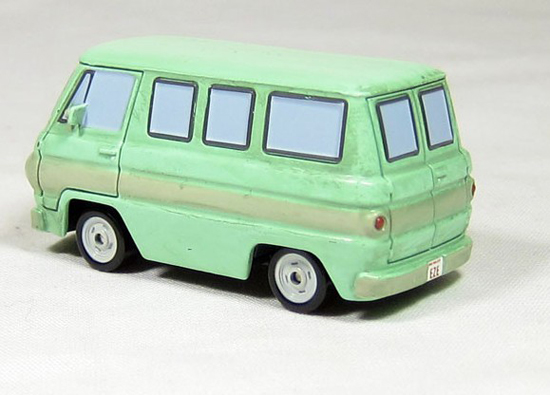 1:55 Scale Light Green Mattel Rust Bus Toy