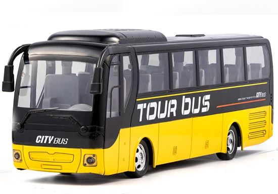 Kids Full Functions Rechargeable Bright Yellow R/C Bus Toy