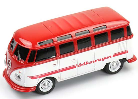 Kids White-Red 1:26 Scale Full Functions R/C VW T1 Bus Toy