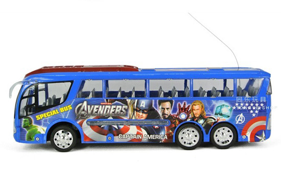 Kids 4 Channel Cartoon Design R/C Bus Toy