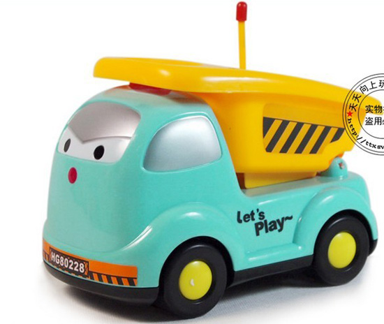 Blue Cartoon Design Electric Kids Truck Toy