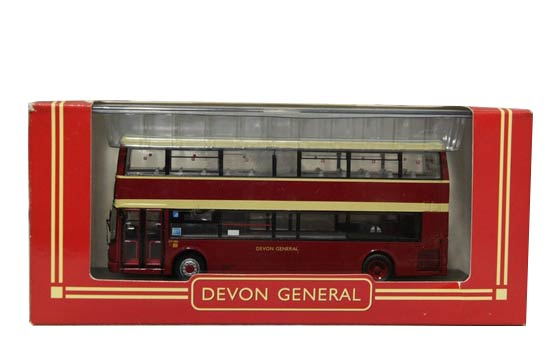 1/76 Scale CMNL Brownish Red DEVON GENERAL Bus Model