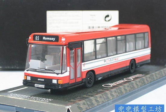 1:76 Scale Red Corgi Brand Britain singledecker Bus Model