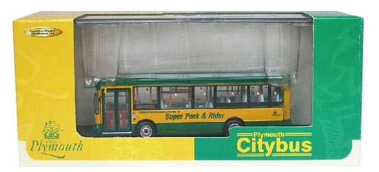 1:76 Scale Green-Yellow CMNL Britain Singledecker Bus Model
