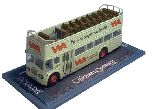 1:76 Scale Corgi Brand White Cabrio Double-decker Bus Model