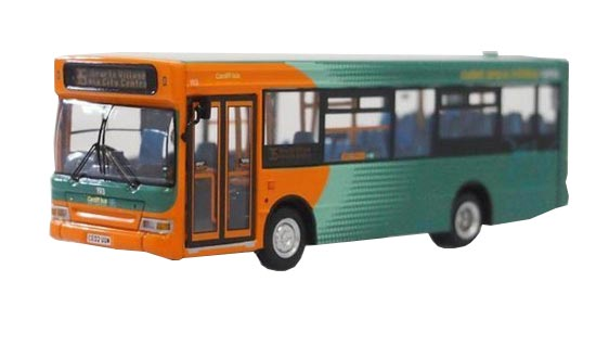 1:76 Orange-green CMNL Britain Dennis Singledecker Bus Model