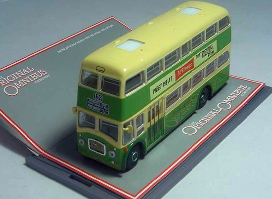 1:76 Scale Green Corgi Brand Double-decker Bus Model