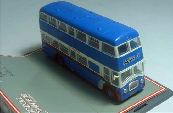 1:76 Scale Blue Corgi Brand Double-decker Bus Model