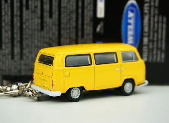 Welly 1:87 Scale Yellow / Red Kids VW Key Chain Bus Toy