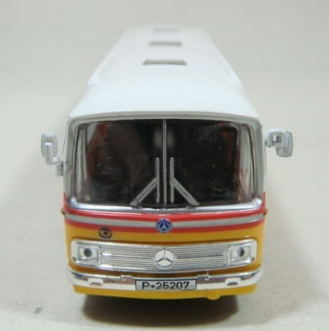 Yellow-White Plastic SCHUCO Mercedes-Benz Singledecker Bus Model
