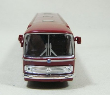Red Plastic SCHUCO Mercedes-Benz Singledecker Bus Model