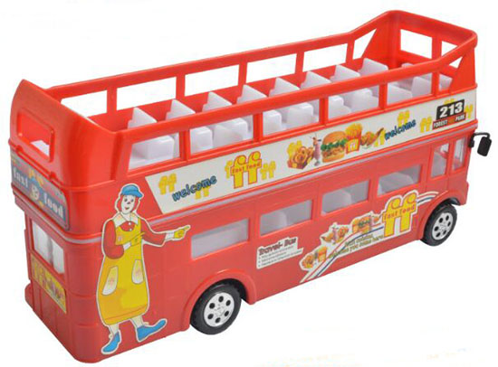 Large Scale Red Kids Electric London Double-decker Bus Toy